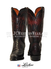 Men's Lucchese 1883 Black Cherry Caiman Boot N9582 Lucchese - J.C. Western® Wear