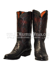 Men's Lucchese 1883 Black Cherry Caiman Boot N9582 R4