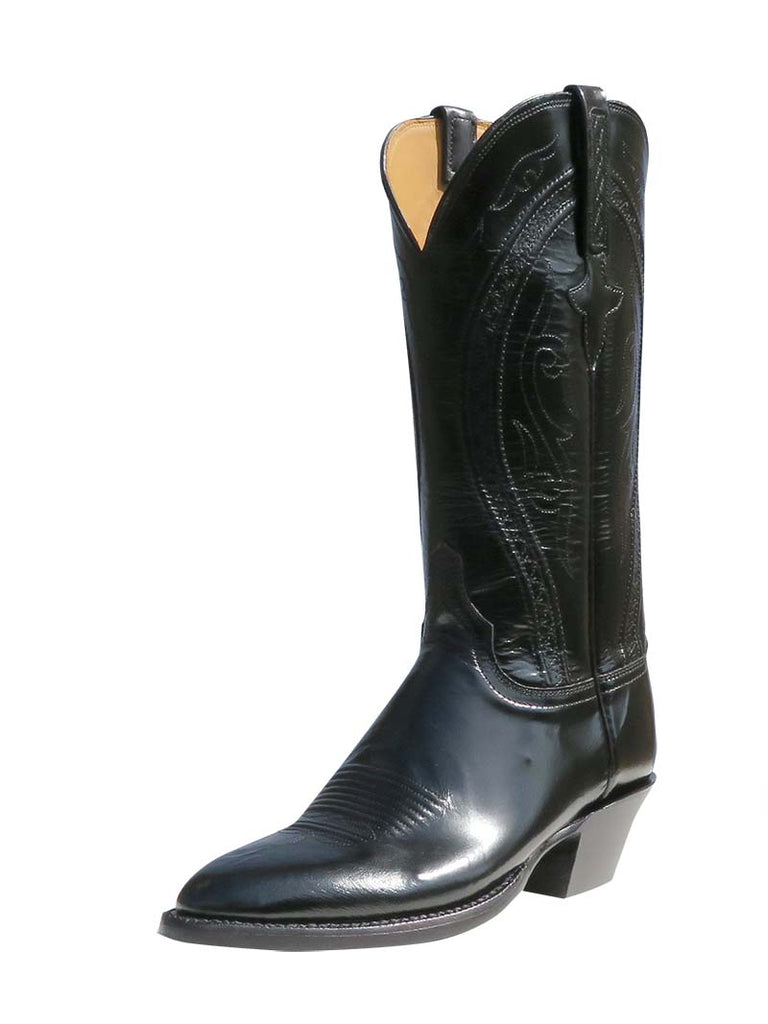 Lucchese L4535.24 Womens Classics Hobby III Cord Stitch Western Boot Black
