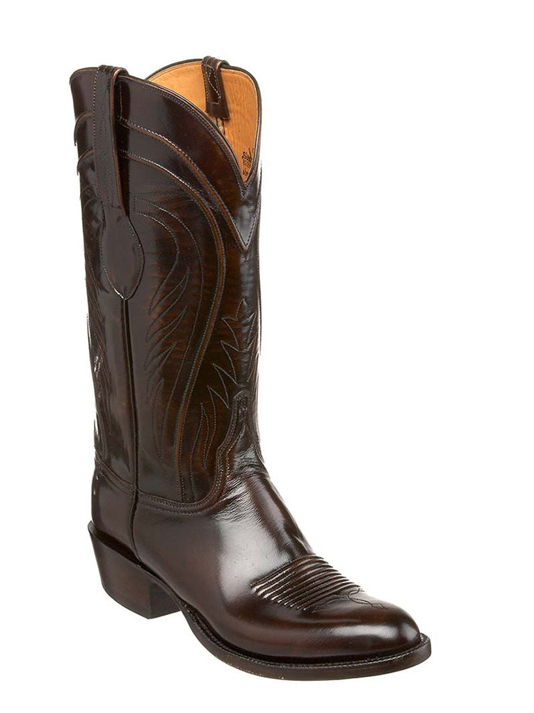 Lucchese Mens Classics Goat Brown Brush Off Western Boots L1507 Lucchese - J.C. Western® Wear