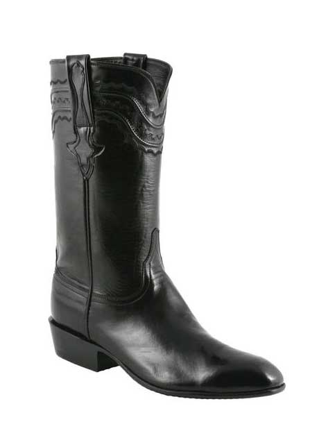 Lucchese Mens Classic Black Calfskin Western Boots L9501 18