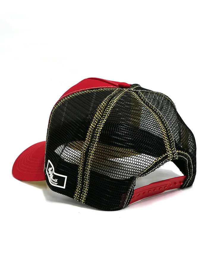 Larry Mahan MCBCDIAB-RED Embroidered El Diablito Mesh Back Cap 2-Tone Side Front