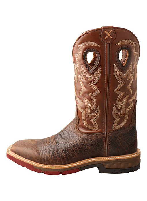 Mens Twisted X  12″ Western Work Boot with CellStretch® – MXBW002 -1