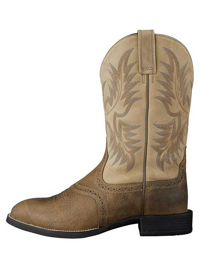 Ariat 10002247 Mens Heritage Stockman Boot Tumbled Brown