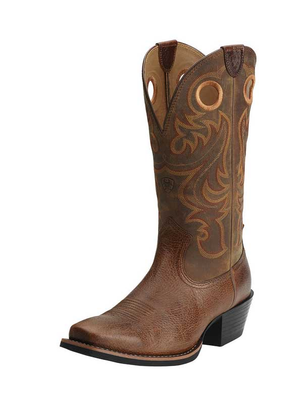 Ariat 10014025 Mens Sport Square Toe Boot Fiddle Brown