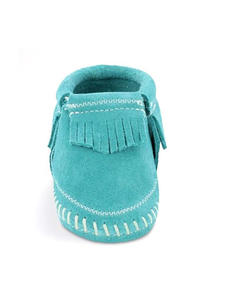 Minnetonka Infants Riley Bootie 1166 Turquoise Suede Minnetonka - J.C. Western® Wear
