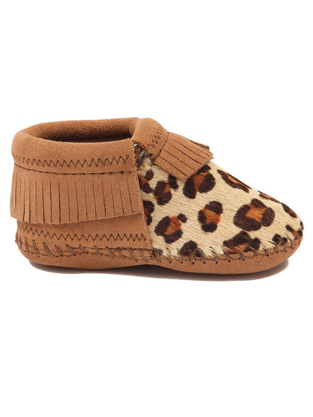 Minnetonka Infants Riley Suede Leopard Bootie 1179 Minnetonka - J.C. Western® Wear