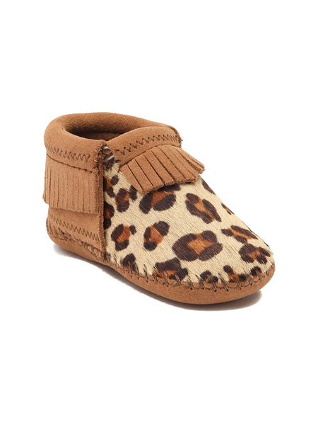 Minnetonka 1179 Infant's Riley Suede Bootie Leopard