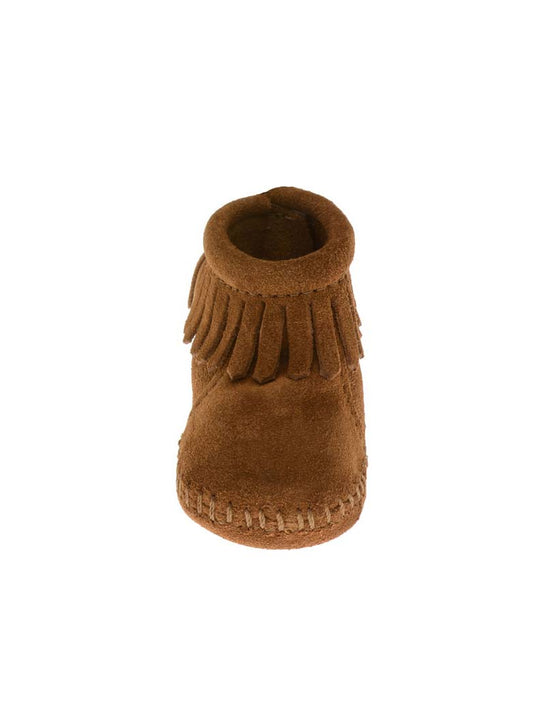 Minnetonka Infants Brown Suede Back Flap Bootie 1182 Minnetonka - J.C. Western® Wear