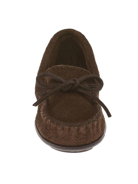 Minnetonka Boys Chocolate Suede Leather Sporty Moccasin 2773 Minnetonka - J.C. Western® Wear