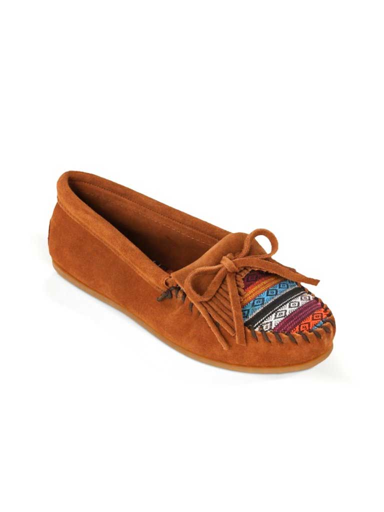 Minnetonka 402K Women's Fabric Kilty Moc Arizona