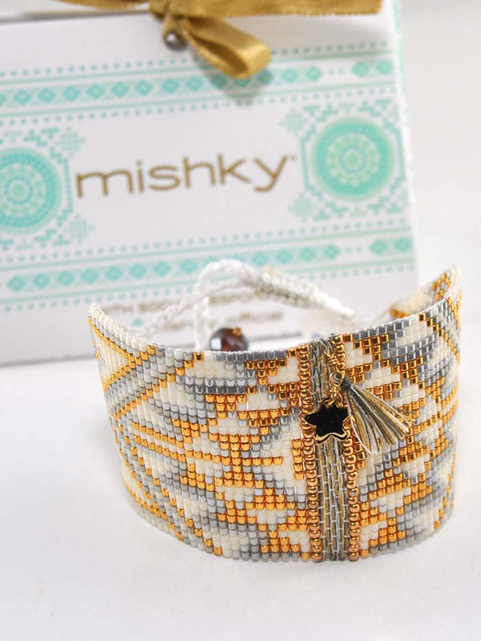 Mishky Womens Large Hand Woven Beaded Bracelet L4122 Mishky - J.C. Western® Wear