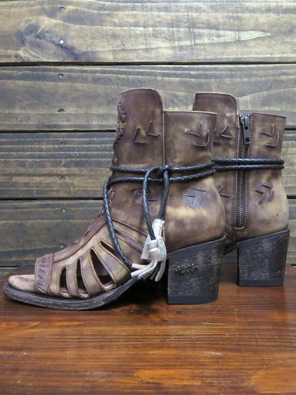 Miss Macie Womens Singing Brook Open Toe Leather Booties U2010-02 Pair at JC Western Wear Western Clothing