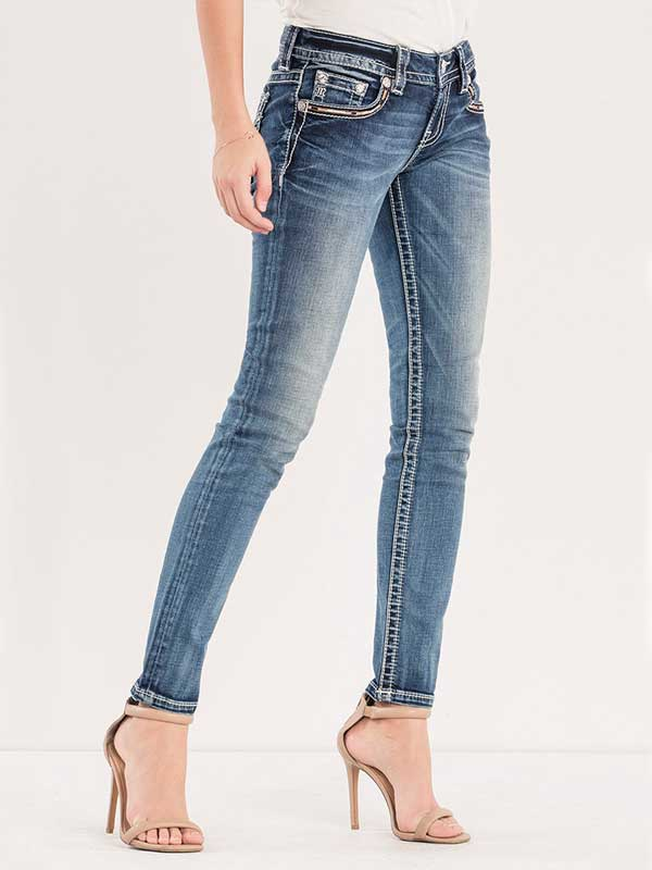 Miss Me Spread Your Wings Mid Rise Skinny Jeans M3101s Jc