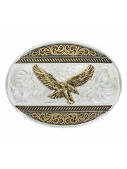 Montana Silversmiths Two Tone Golden Eagle Western Buckle 6140-696