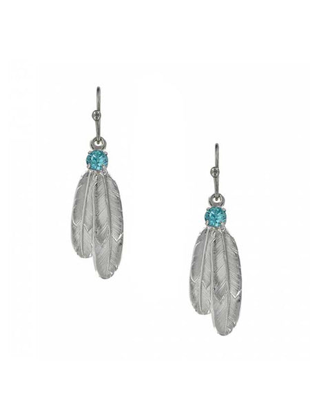 Montana Silversmiths Gift of Freedom Feather Earrings ER3712LTQ