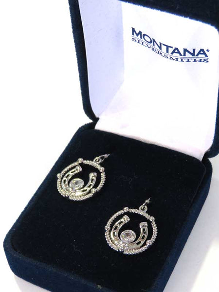 Montana Silversmiths Wreathed Horseshoe Treasure Earrings ER3877
