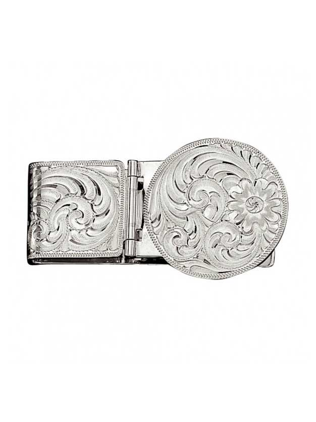 Montana Silversmiths Silver Engraved Hinged Money Clip MCL22