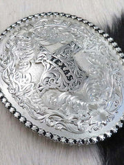 Montana Silversmiths Antiqued Silver Texas State Western Belt Buckle 6189SV-610TX