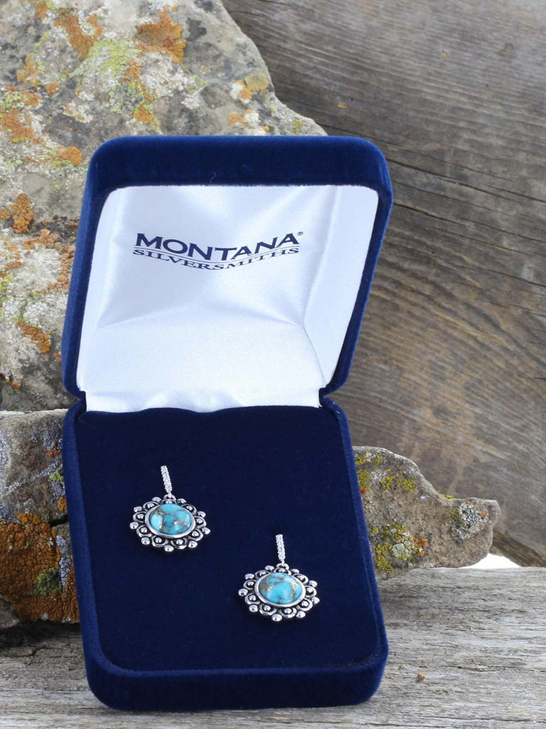 Montana Silversmiths Southern Lace Turquoise Earrings ER3863