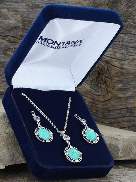 Montana Silversmiths True North Turquoise Jewelry Set JS3218
