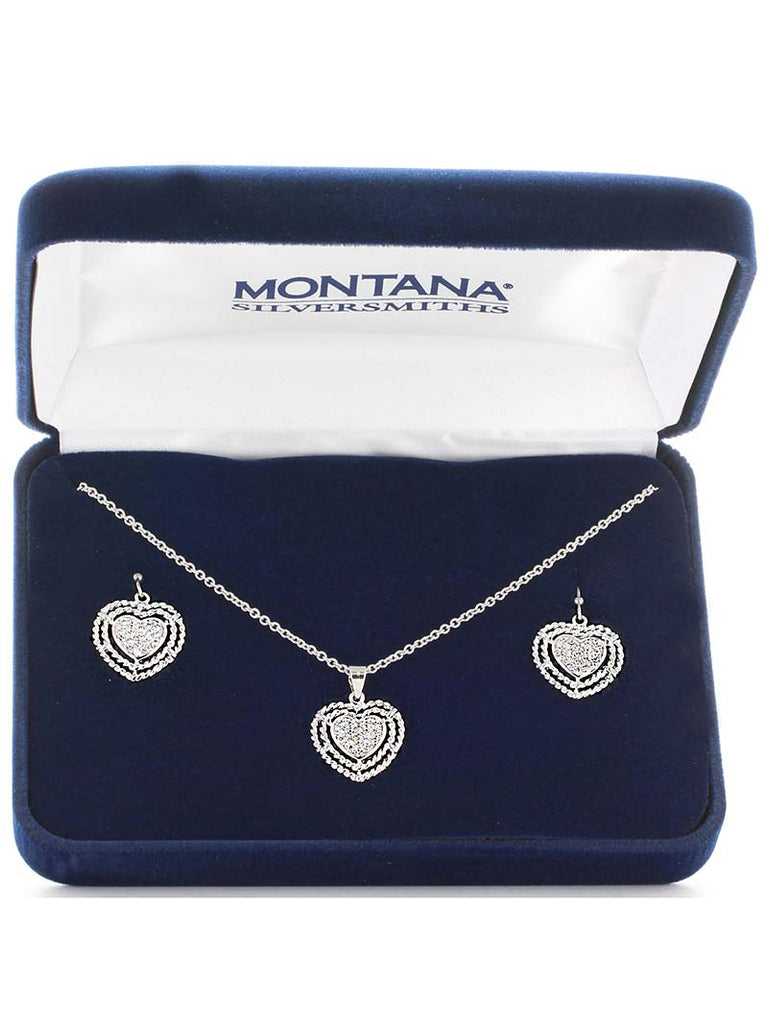 Montana Silversmiths Roped My Heart Jewelry Set JS3393