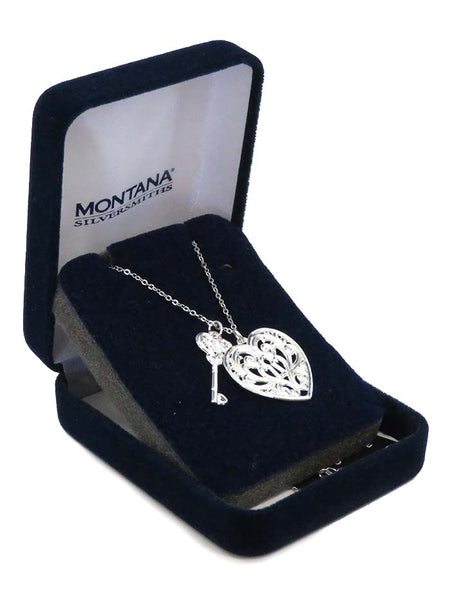 Montana Silversmiths Key To My Heart Necklace NC2421D Side