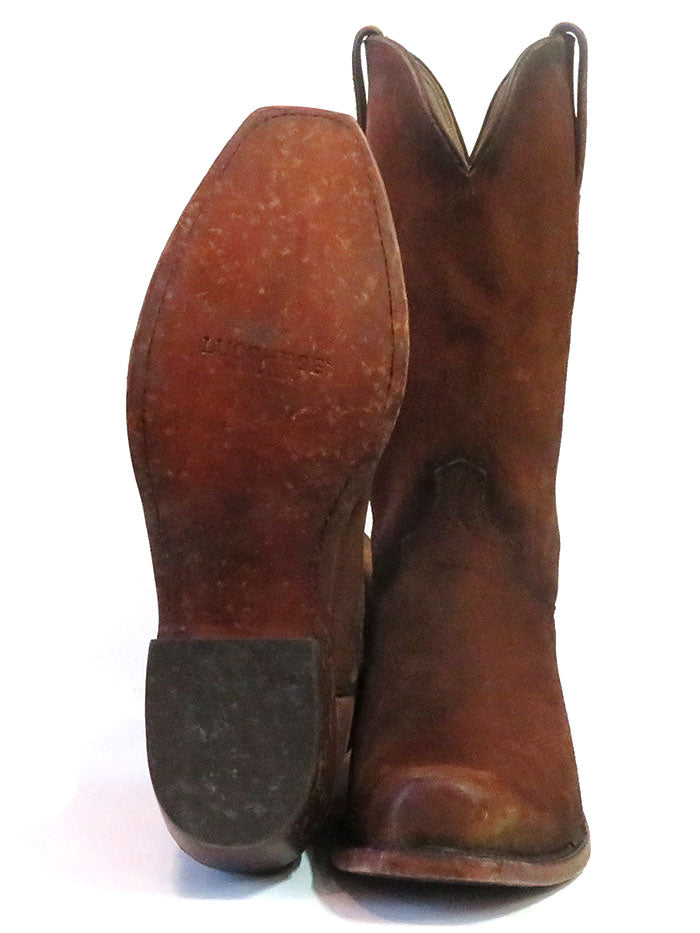 Lucchese N1700.74 Mens Livingston Canyon Suede Cowboy Boot Cognac Made in USA