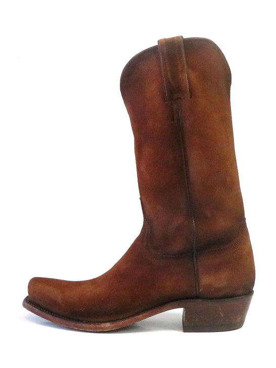Lucchese N1700.74 Mens Livingston Canyon Suede Cowboy Boot Cognac