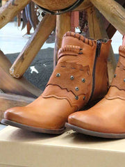 Naughty Monkey Maxine Tan Leather Ankle Bootie NMPLB0134-251