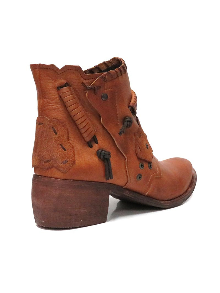 Front of Naughty Monkey Maxine Tan Leather Ankle Bootie NMPLB0134-251