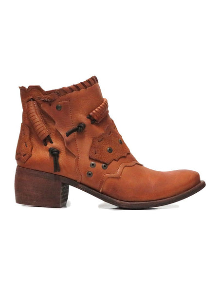 Side view of Naughty Monkey Maxine Tan Leather Ankle Bootie NMPLB0134-251 JC Western Wear Jupiter and West Palm Beach
