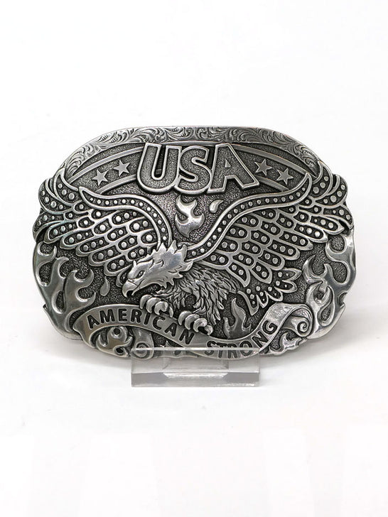 Nocona 37122 American Strong USA Soaring Eagle Belt Buckle Front
