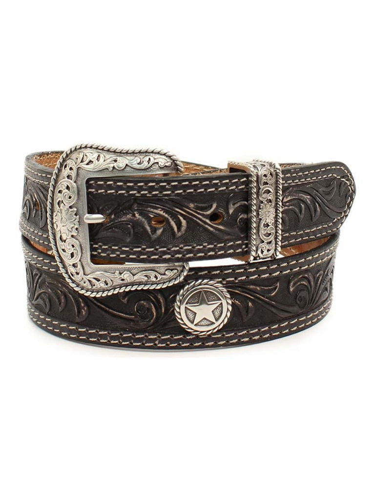 Nacona Mens Circle Stars San Antonio USA Leather Belt N2300601 J.C. Western® Wear - J.C. Western® Wear