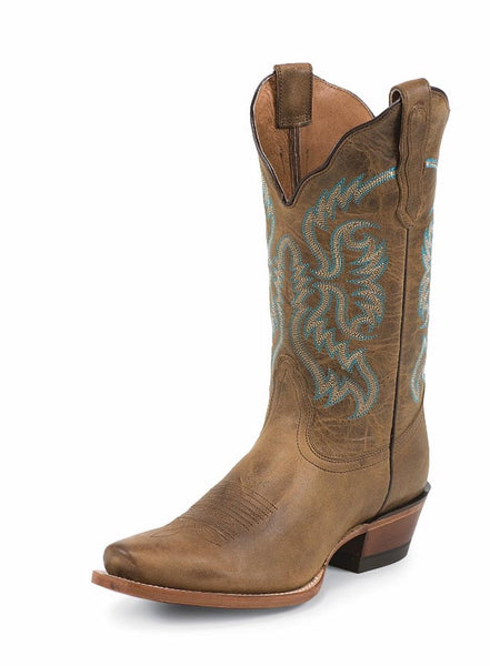 Nocona NL5009 Womens Old West Tan Cowgirl Boot Tan