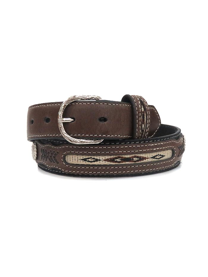 Nocona Kids Conchos and Fabric Southwestern Belt N4415801 front at JC Western Wear, Florida