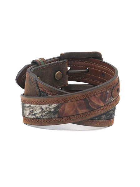Kid's Nocona Mossy Oak Camo Leather Belt N44192222 Nocona - JC Western® Wear Back