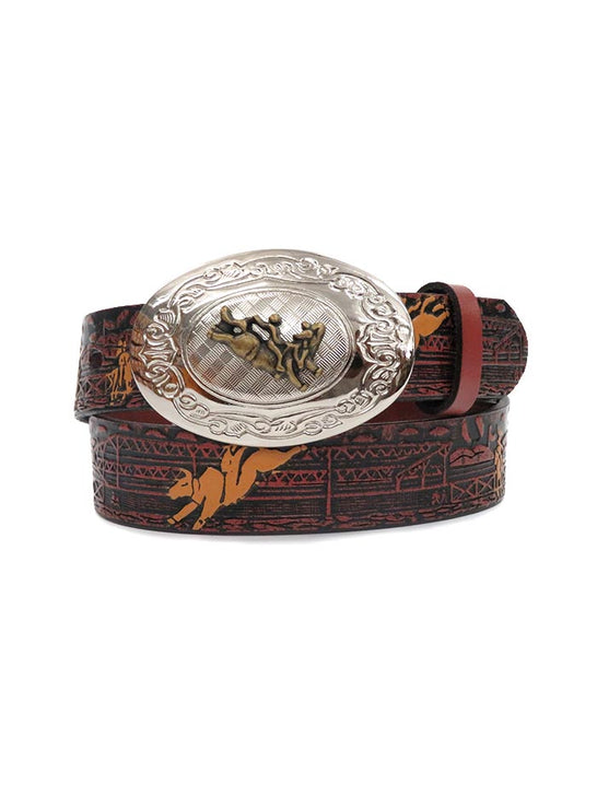 Nocona Kids Rodeo Printed Brown Leather Belt N4422002 at JC Western Wear, Ft. Lauderdale, Florida Area
