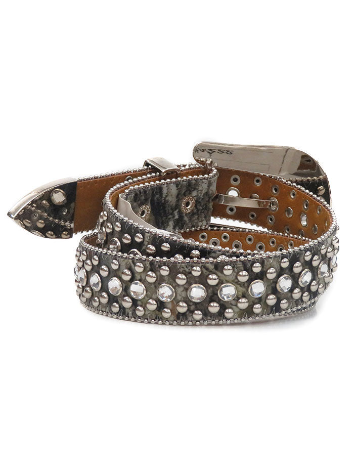 Kid's Nocona Mossy Oak Rhinestones Camo Fashion Belt N44254222 front