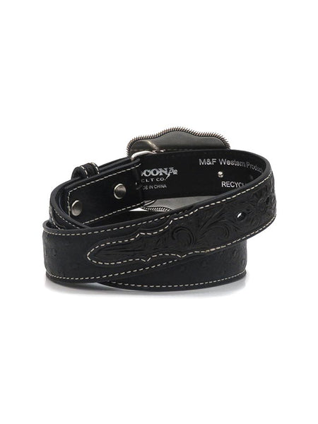 Nocona Kids Ostrich Strap with Embossed Tab Western Belt N4440001 back at JC Western Wear