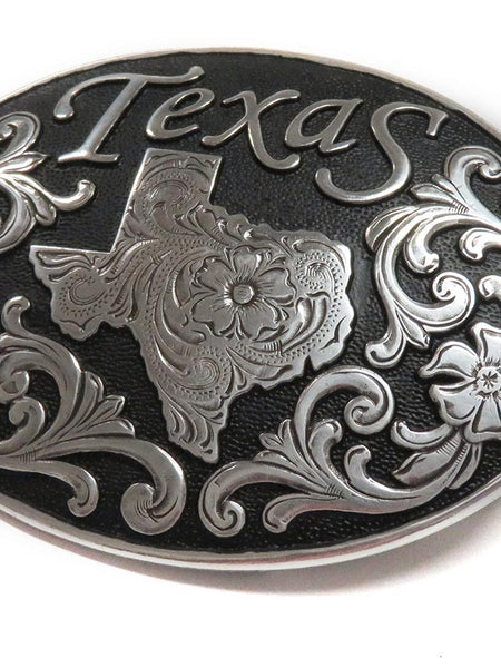 Nocona Texas State Oval Belt Buckle 37674 Front