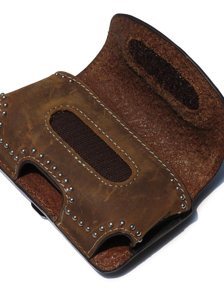 Nocona Western Brown Leather Belt Clip Phone Holder 0686415