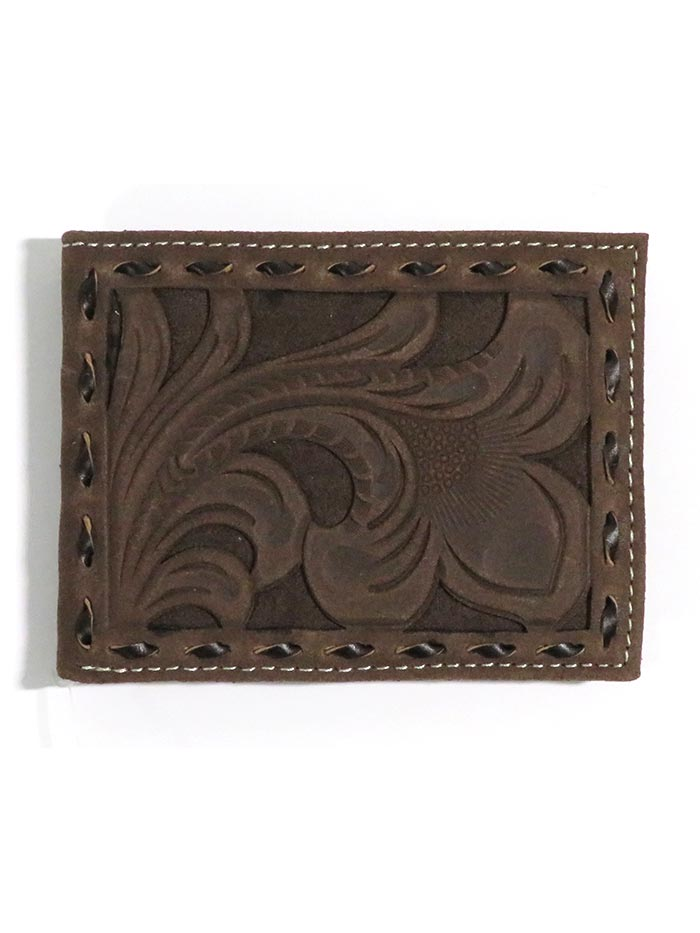 Nocona Mens Cowboy Floral Tooled Leather Overlay Wallet N5418447