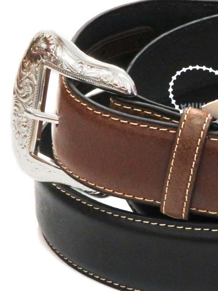 Nocona Men's Lace Billet and Diamond Concho Belt N2475401 Black