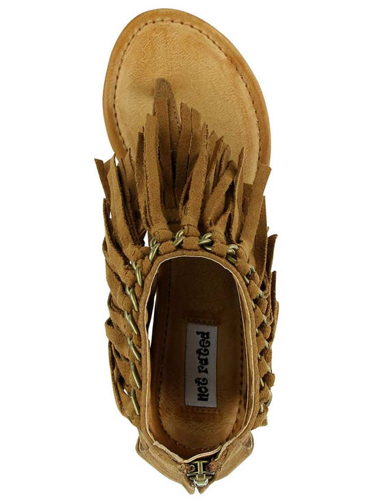 Not Rated Women's Sybil Tan Fringe Wedge Sandal NRWE0091-251