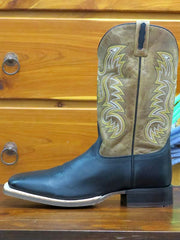 "Old West Men's 13"" Square Toe Leather Cowboy Boots BSM1811"