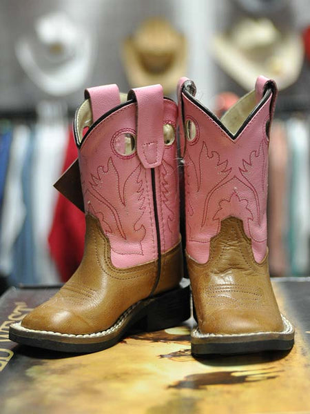 090f23ecc35 Kid's Old West Toddler Infant Pink Cowgirl Boot BSI1839