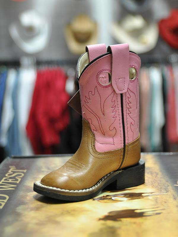 660b9fa619f Kid's Old West Toddler Infant Pink Cowgirl Boot BSI1839