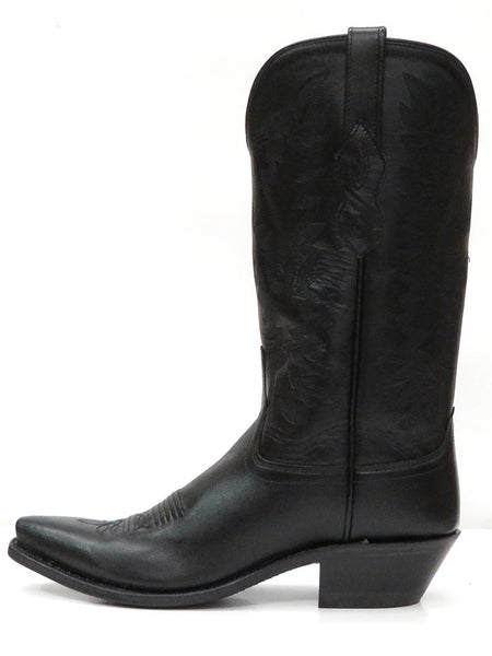 Old West Womens Fashion Snip Toe Cowgirl Boots LF1510 Black Side View Old West Boots