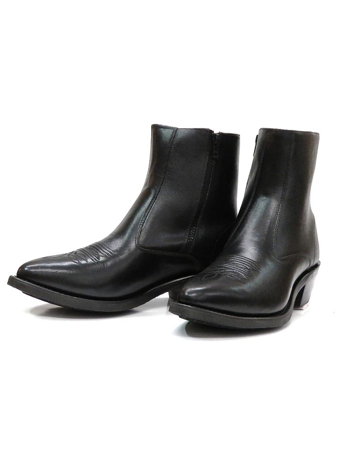 Old West MZ7080 Mens Side Zipper Riding Boots Black Pair Old West Boots